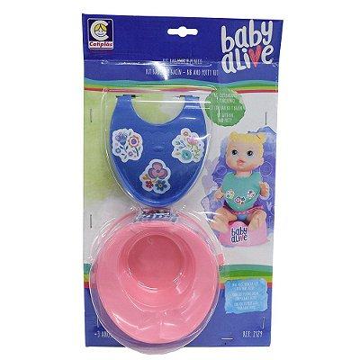 Kit Babador Azul e Penico Baby Alive - Cotiplás