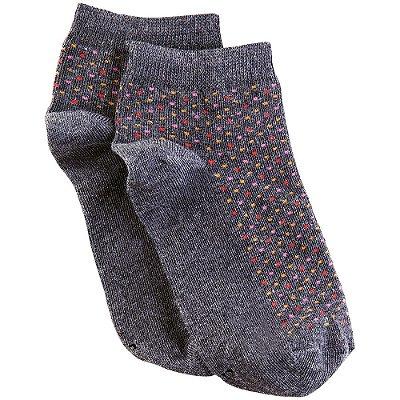 Meia Soquete Feminina Socks Pontinhos - Cinza - Lupo