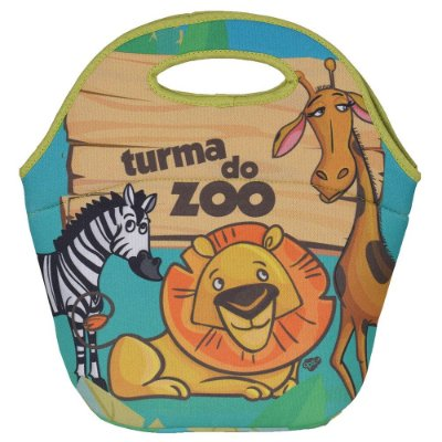 Mini Lancheira Neoprene Turma do Zoo - Ops!