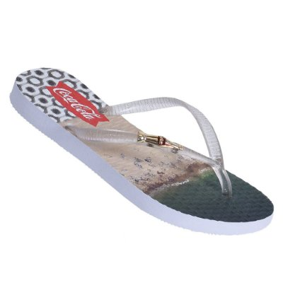 Chinelo com Metal Beach Girls - Cola-Cola