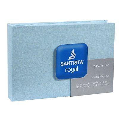 Lençol de Casal Royal Liso - Azul - Santista