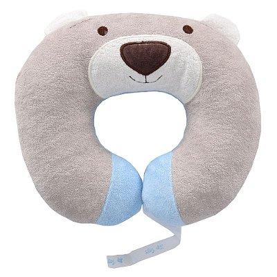 Protetor de Pescoço Urso Nino - Azul - Zip Toys