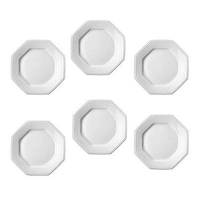 Jogo de Pratos de Sobremesa Prisma - 6 peças - Schmidt