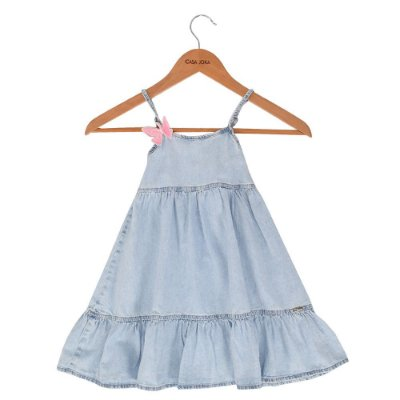 Vestido Jeans de Alças - Mon Sucré
