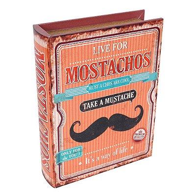 Caixa Decorativa Livro Mostachos Média - Mart