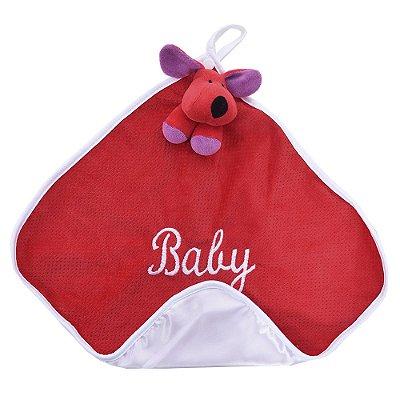 Toalha de Boca Cachorro Vermelho - Zip Toys