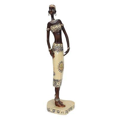Figura Decorativa - Mulher Africana