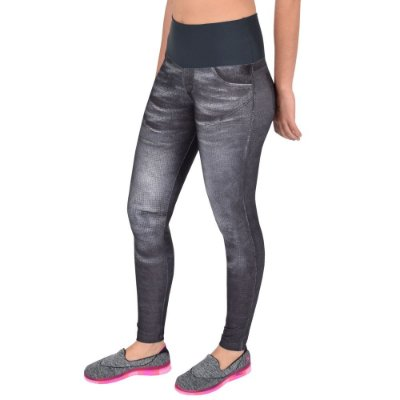 Calça Legging Wild Black Denim - Live