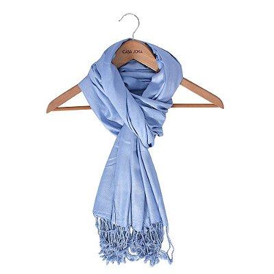 Echarpe Lisa Azul Jeans - 180 x 70 cm