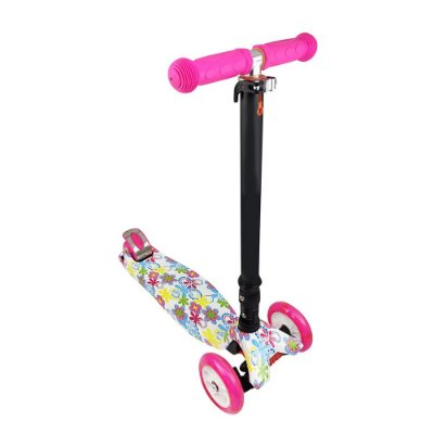 Patinete Flash com Luzes - Flores - DTC