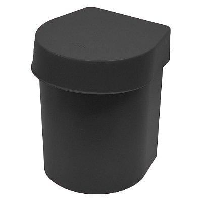 Lixeira de Pia Hide 3,5 Litros Preta - Ou