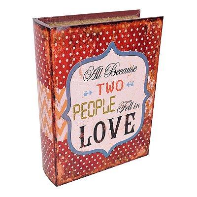 Caixa Decorativa Livro Love Grande - Mart