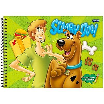 Caderno de Cartografia Scooby-Doo - Que fome! - 96 folhas - Jandaia