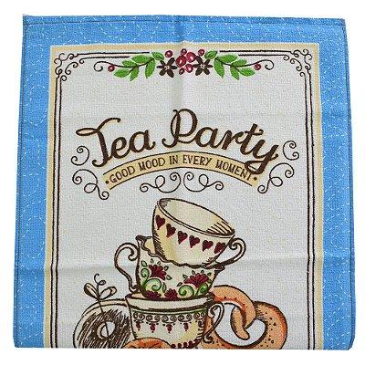 Pano de Copa Felpudo Prata Tea Party - Döhler