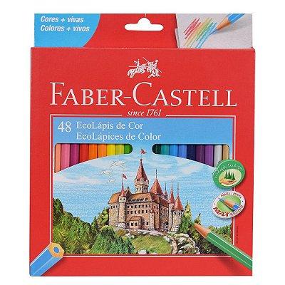 Lápis de Cor Sextavado Faber Castell - 48 cores