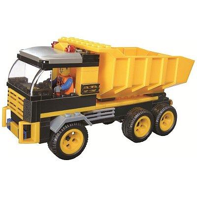 Blocos de Encaixe Cidade Em Obras - Caçamba - 142 Peças