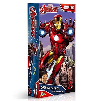 Quebra-Cabeça Homem de Ferro - Os Vingadores - 200 peças - Toyster