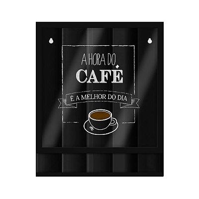 Quadro para Cápsulas de Café - Hora do Café - Geguton
