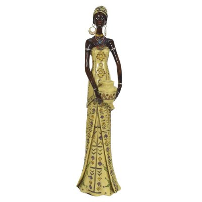 Figura Decorativa - Africana com Turbante