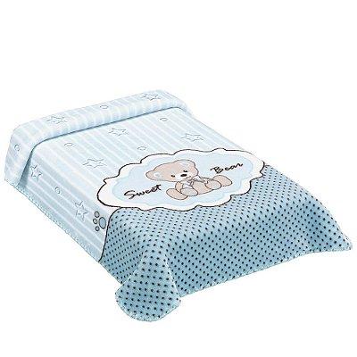 Cobertor para Berço Exclusive Sweet Azul - Colibri