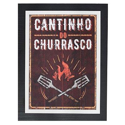 Quadro Decorativo Cantinho do Churrasco - 30 x 23 cm