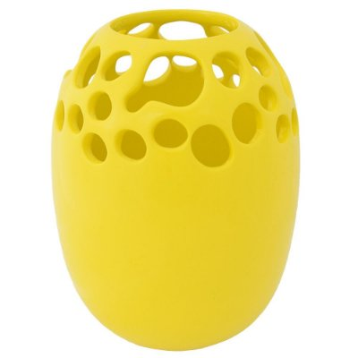 Vaso Decorativo Oval Organic Amarelo - Ana Maria