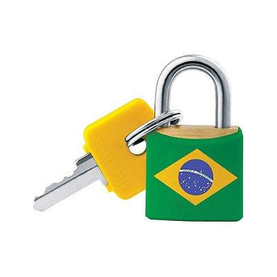 Cadeado com Chaves Brasil - 20 mm - Pado