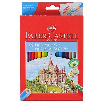 Lápis de Cor Sextavado Faber Castell - 36 cores