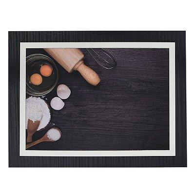 Quadro Decorativo Preparando Receitas - 30 x 23 cm