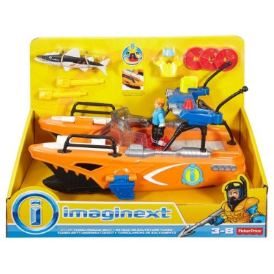 Imaginext Oceano - Barco Turbo Resgate - Fisher-Price
