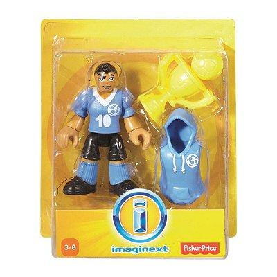 Imaginext Mini Figura com Acessórios - Jogador de Futebol