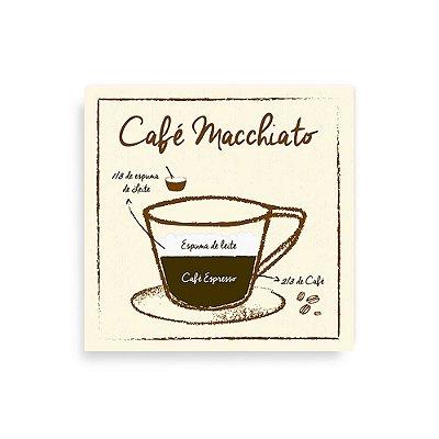 Quadro Decorativo Café Macchiato - Geguton