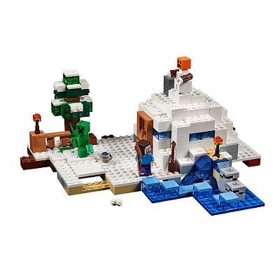 Lego Minecraft Esconderijo na Neve - Lego