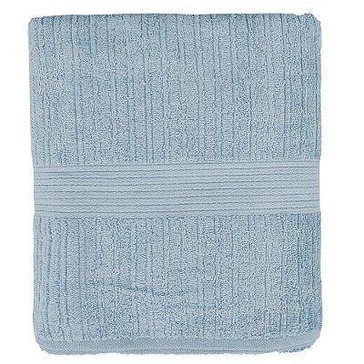 Toalha de Banho Gigante Canelada Fio Penteado - Azul Claro - Buddemeyer