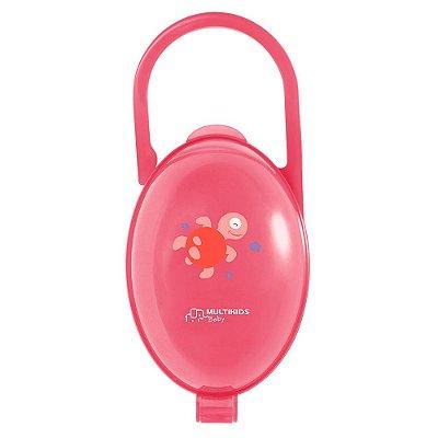 Porta Chupeta Paci Clean Rosa - Multikids