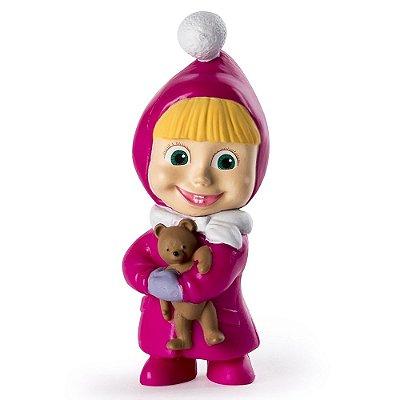 Mini Figura Básica - Masha e o Urso - Masha com Ursinho - Sunny