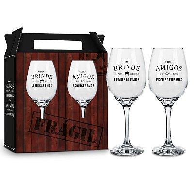 Jogo de Taças de Vinho - Um Brinde - Brasfoot