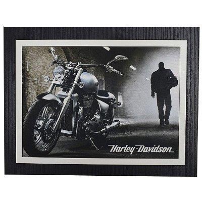 Quadro Decorativo Harley Davidson Dark - 30 x 23 cm