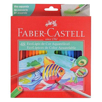 Lápis de Cor Sextavado Aquarelável Faber Castell - 48 cores