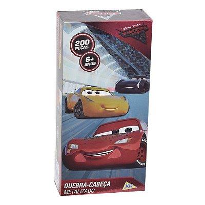 Quebra-cabeça metalizado Carros - 200 peças - Toyster