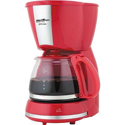 Cafeteira CP15 Inox Vermelha - Britânia