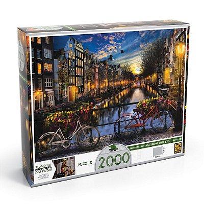 Quebra-Cabeça Verão Em Amsterdã - 2000 peças - Grow