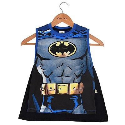 Regata Infantil Batman com Capa - Fakini