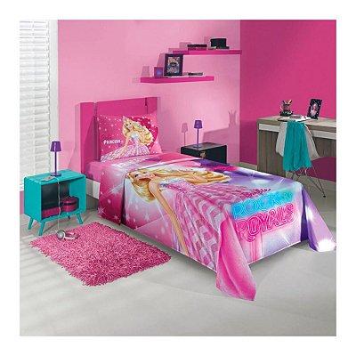 Jogo de Lençol Solteiro - Barbie Rock'n Royals - Lepper Kids