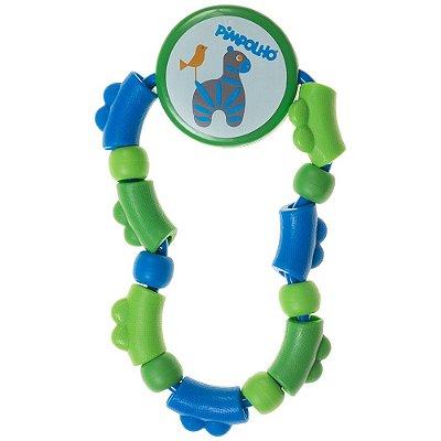 Chocalho Turminha do Barulho - Verde e Azul - Pimpolho