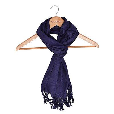 Echarpe Lisa Azul Marinho - 160 x 55 cm