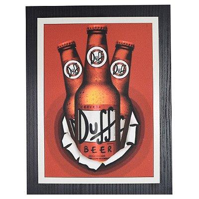 Quadro Decorativo Ceveja Duff - 30 x 23 cm