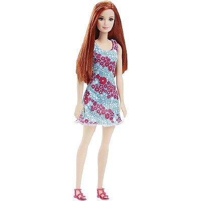 Boneca Barbie Fashion Ruiva Flores - Mattel