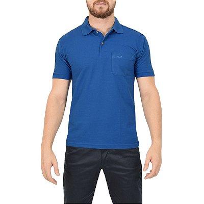 Camisa Polo Masculina Azul - Wayna