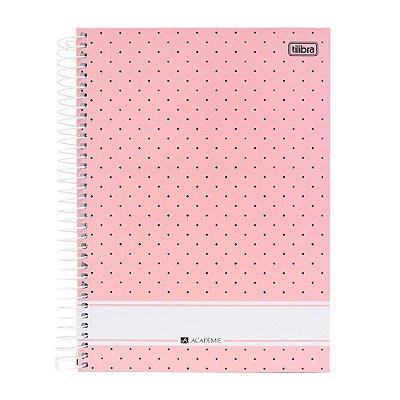 Caderno Académie Rosa - 10 Matérias - Tilibra